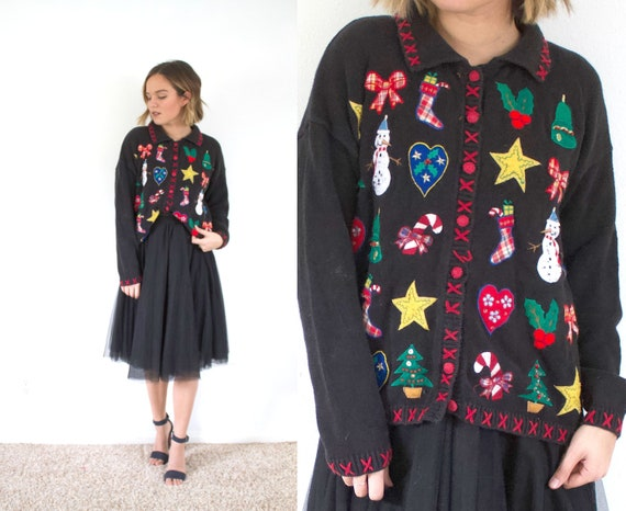 Ugly christmas cardigan // christmas party sweater