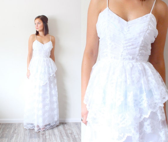 Vintage Wedding dress // All lace wedding dress //