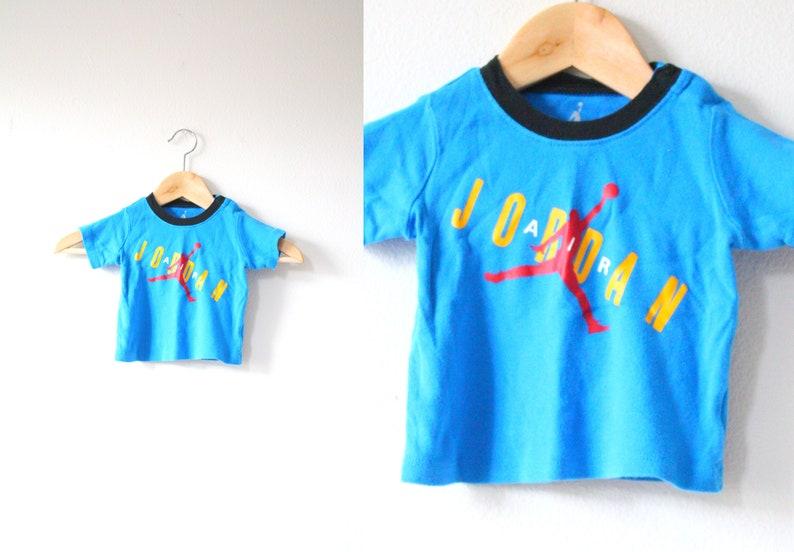 a86865d9bf49 Vintage blue baby T-shirt    Jordan shirt    baby Jordan