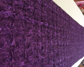 Bright Purple with Silver Accent Rhinestone Bling Aisle Runner 25 Feet