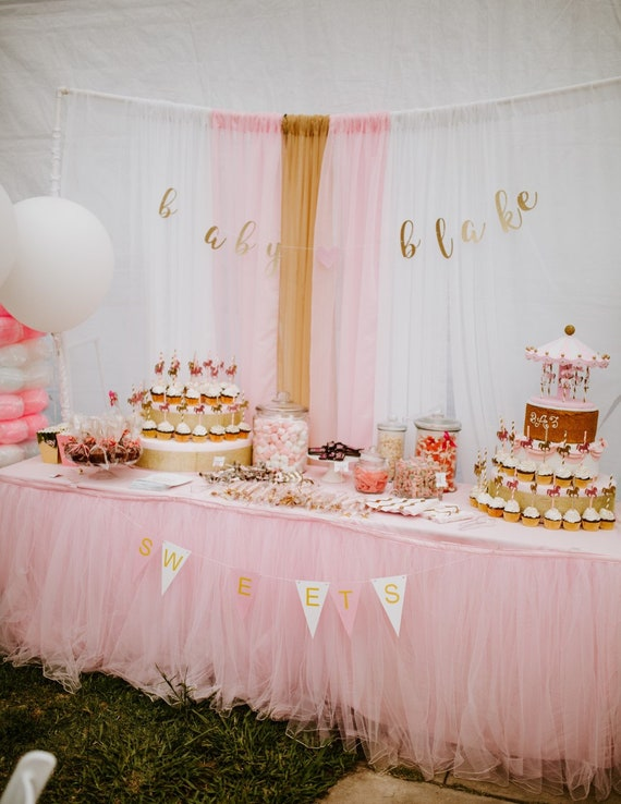 Wedding Baby Shower Cupcake Stand Two Tier Pink And Gold Etsy