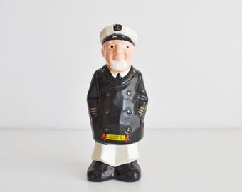 Sea Captain Bank // Ship Captain // Nautical Coin Bank