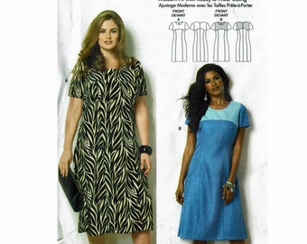 28a583ff337 Easy to Sew Dress Butterick 6033 by Connie Crawford UNCUT sewing pattern  sizes Misses Xsm-Sml-Med-Lrg-Xlg or Womens XXL 1X 2X 3X 4X 5X 6X