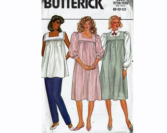 6d2b2a4eadae7 Maternity Dress Jumper Top & Pants Size 8 10 12 UNCUT Sewing Pattern 1980s  Butterick 3309