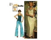 1970s Halter Dress Sewing Pattern Long Summer Maxi Dress or halter top Sewing Pattern Size 12 Bust 34 Simplicity 6325