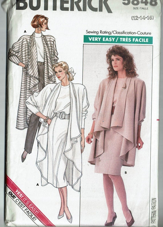 Belt Butterick 5848 Unisex Robe Top and Pants 30 to 40   Sewing Pattern