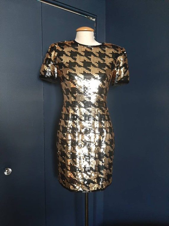 Vintage 1980s A.J. Bari sequin dress