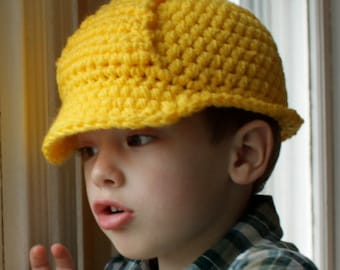 Hard Hat Helmet - Crochet Pattern - Permission to sell finished items