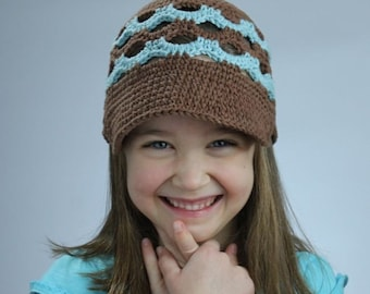 Newsboy Scalloped Breezy Beanie - Crochet Pattern - Permission to sell finished items