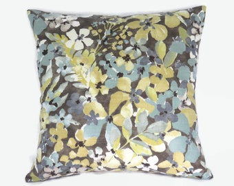 "16x16/"" Decorative Throw Pillow Covers Pair Grey//Cream Tweed Robert Allen Fabric"