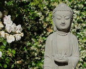 TALL SHAKYAMUNI BUDDHA (Choice of Color) Solid Stone Ornate Statue. Original Home Garden Sculpture by Michael Gentilucci. Made in the U.S.A