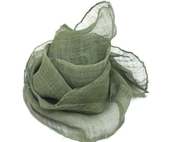 KAYA. Antique Japanese Boro Indigo Hemp Textile. Kaya Mosquito Net. Vintage Collectible Fabric (Ref: 1540)