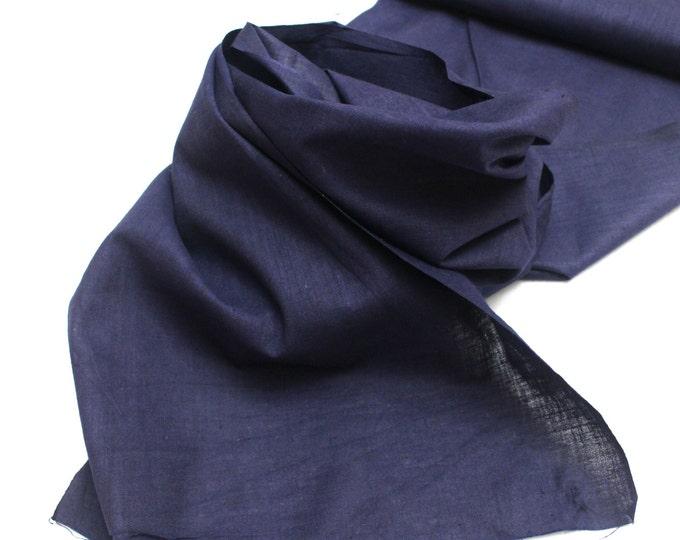 Japanese Indigo Cotton. Artisan Aizome Boro Textile. Blue Vintage Folk Fabric (Ref: 1722)