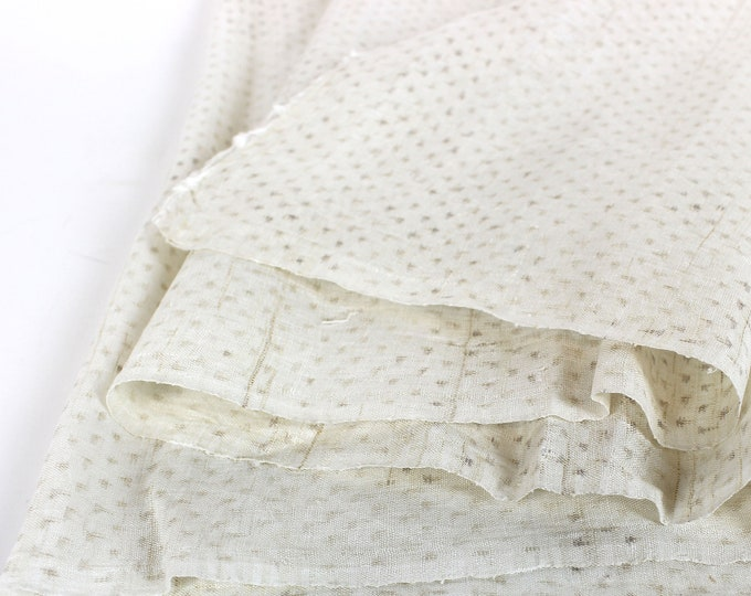 Japanese Cotton. Kagasuri. Ikat. Kasuri. Antique Cotton. Antique Fabric. Vintage Japanese. Cotton. Fabric. Antique White Cotton
