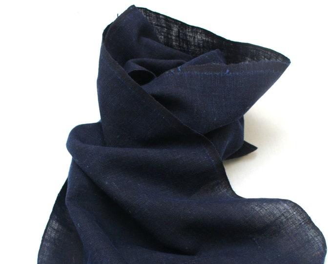Japanese Indigo Cotton. Artisan Aizome Boro Textile. Blue Vintage Folk Fabric (Ref: 1847A)