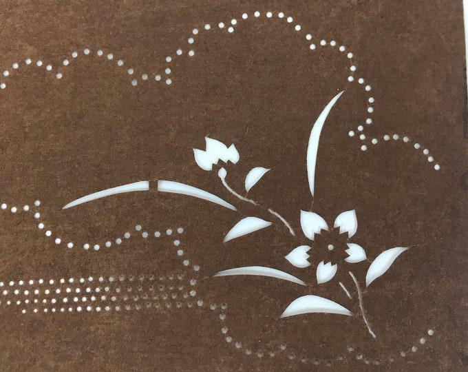 Katagami. Japanese Stencil. Fabric Stencil. Katazome Stencil. Antique Stencil. Yuzen Zome Stencil. Wall Art. Vintage Japanese. Stencil.