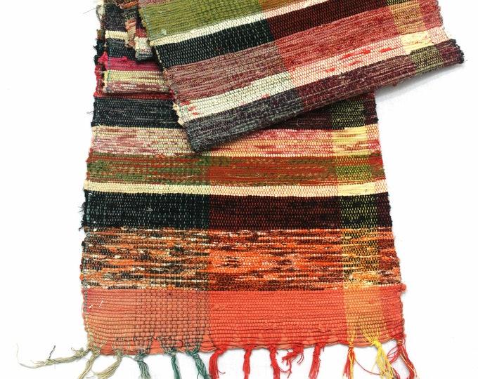 Sakiori Obi - Japanese Vintage Handwoven Textile - Peasant Wear - Home Decor  (Ref: 1994)