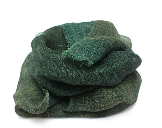KAYA. Antique Japanese Boro Indigo Hemp Textile. Mosquito Net. Vintage Collectible Fabric (Ref: 1930)