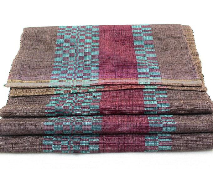Sakiori Obi - Japanese Vintage Handwoven Textile - Peasant Wear - Home Decor  (Ref: 1938)