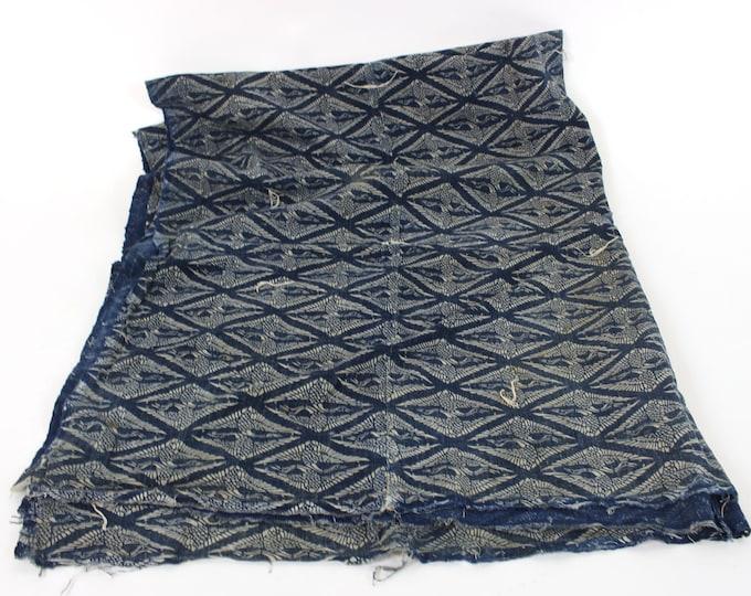 Japanese Antique. Katazome. Futon Cover. Folk Textile. Japanese Indigo. Cotton. Natural Indigo Cotton. Vintage Japanese Cotton. Boro (2091)
