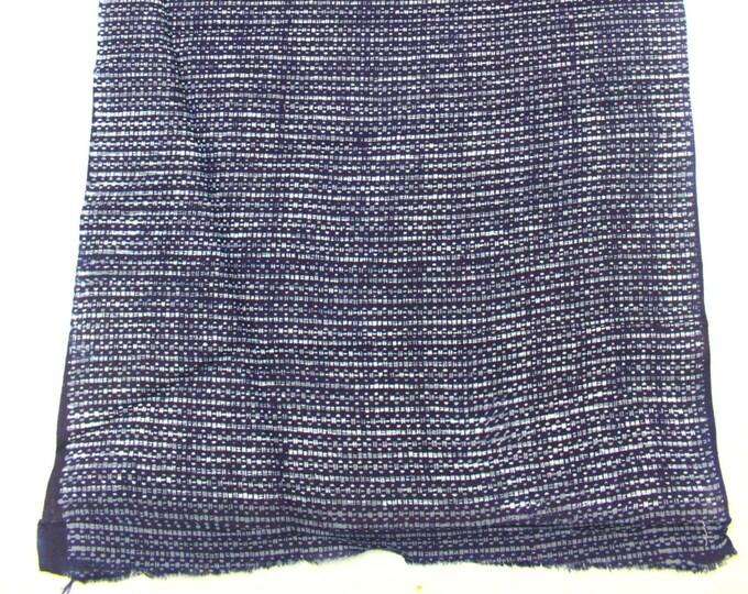Japanese Vintage Indigo Yukata Cotton. Full Fabric Bolt for Traditional Clothing. Hand Dyed Indigo Blue Gray (Ref: 1448)