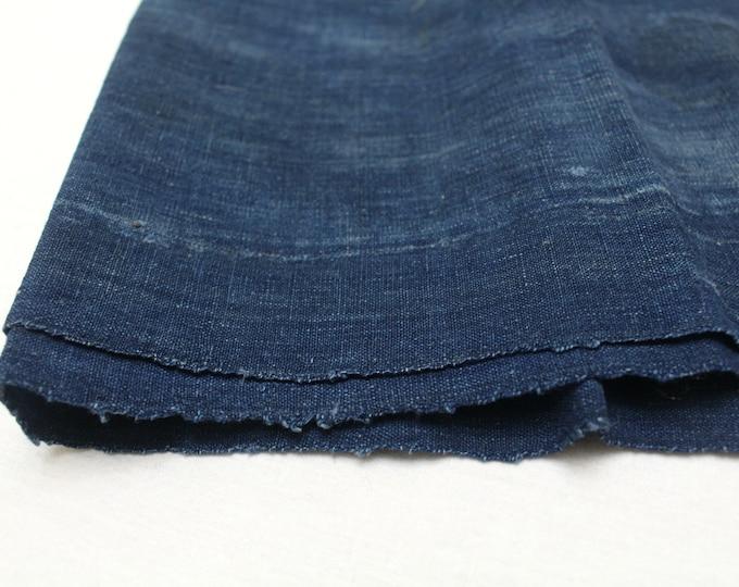 Boro. Japanese Indigo Cotton. Artisan Aizome Boro Textile. Blue Vintage Folk Fabric (Ref: 1818)