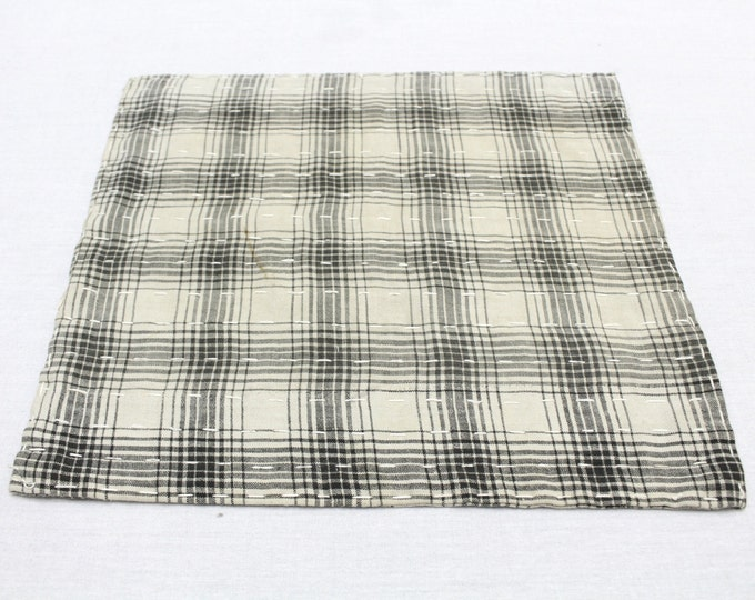 Japanese Zoukin Cloth. Antique Handmade Floor Cloth. Layered Cotton Sashiko Textile. Place Mat. (Ref: 1273)