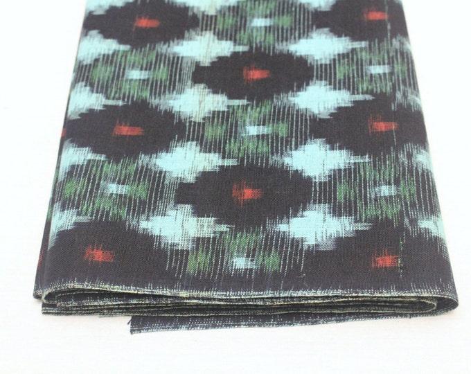 Japanese Vintage Kasuri Ikat. Woven Indigo Cotton Bolt. Traditional Folk Fabric. Bingo (Ref: 1687)