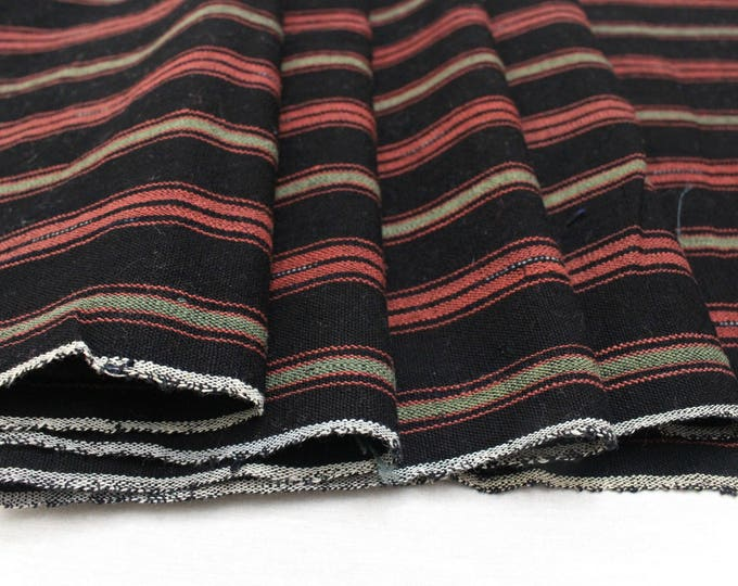 Japanese Vintage Kasuri Ikat. Thick Woven Cotton. Traditional Indigo Folk Fabric. (Ref: 1550B)