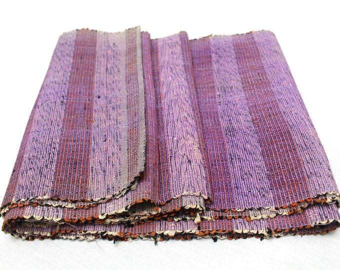 Sakiori Obi - Japanese Vintage Handwoven Textile - Peasant Wear - Home Decor  (Ref: 1937)