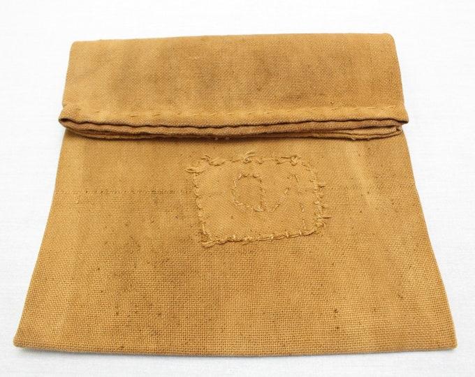 Sakabukuro. Japanese Antique Industrial Sack. Collectible Hand Made Sake Bag. (Ref: 1905)