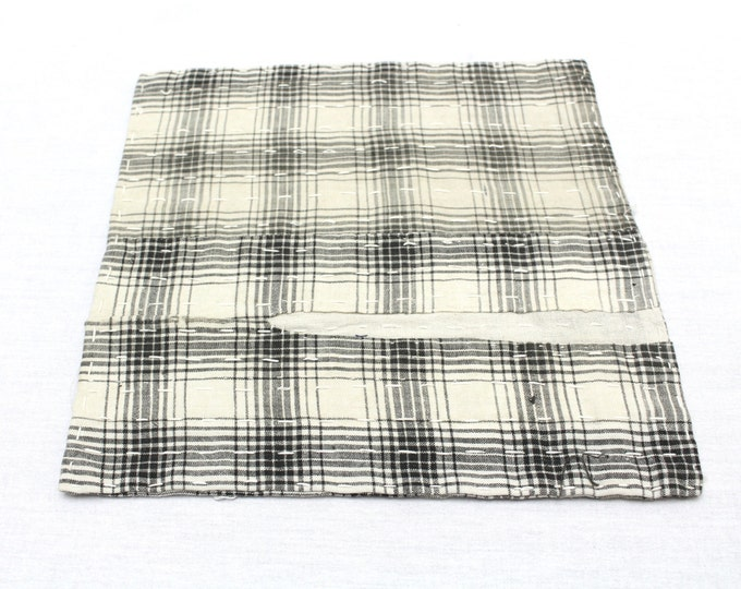 Japanese Zoukin Cloth. Antique Handmade Floor Cloth. Layered Cotton Sashiko Textile. Place Mat. (Ref: 1270)