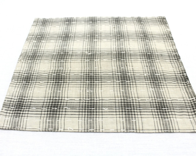 Japanese Zoukin Cloth. Antique Handmade Floor Cloth. Layered Cotton Sashiko Textile. Place Mat. (Ref: 1276)