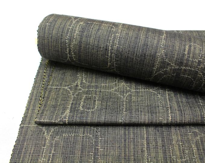 Kuno Tsumugi Cotton. Japanese Ikat Fabric. Traditional Kimono Bolt. (Ref: 1953)