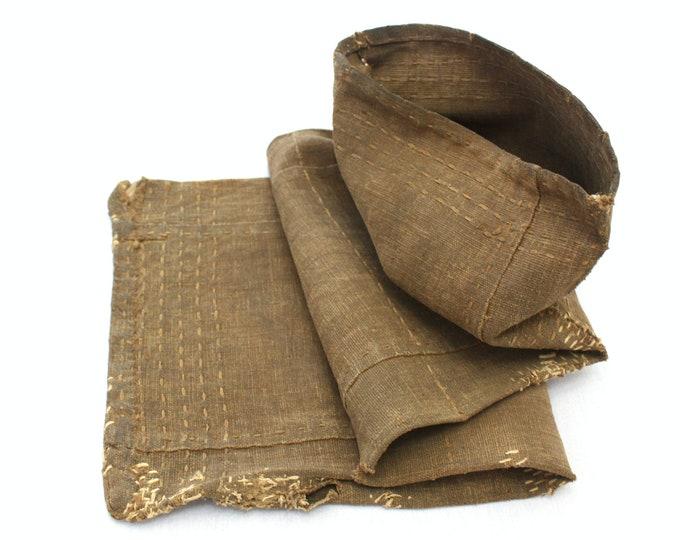 Sakabukuro. Japanese Antique Industrial Sack. Collectible Hand Made Sake Bag. (Ref: 1984)