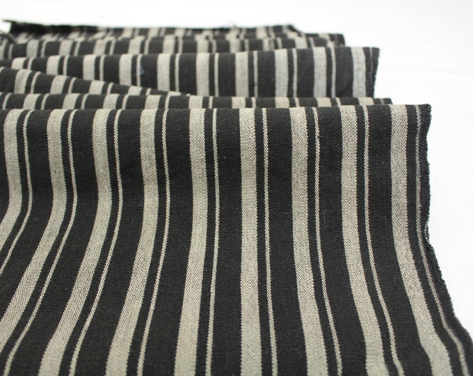 Japanese Vintage Kasuri Ikat. Woven Striped Cotton. Traditional Folk Fabric. (Ref: 1974)