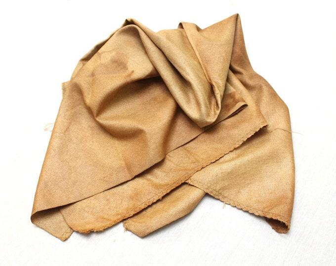 Kakishibu from Kyoto. Artisan Made Persimmon Dyed Thick Cotton Denim. Orange Rust Brown (Ref 1510)