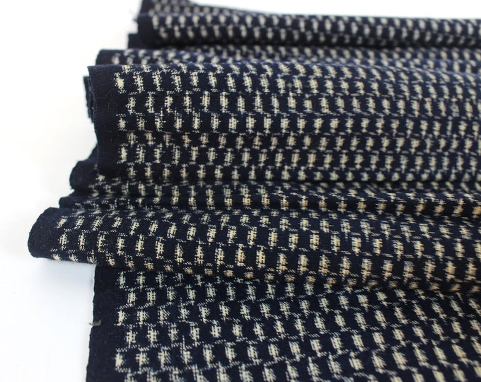 Japanese Cotton. Indigo Ikat. Japanese Indigo. Kasuri Aizome. Antique Cotton. Antique Indigo. Vintage Japanese. Cotton. Fabric. Vintage Blue
