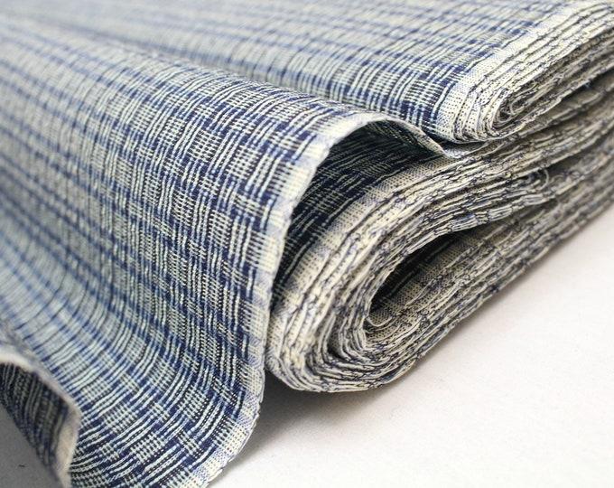 Japanese Shijira Ori Cotton. Traditional Artisan Bolt of Fabric. (Ref: 1949)