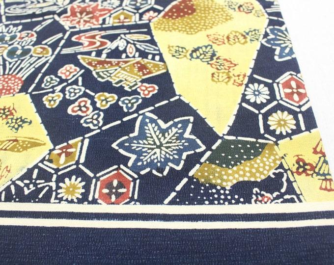 Bingata. Artisan Made Japanese Nagoya Obi. Vintage Okinawa Textile (Ref: 1696)