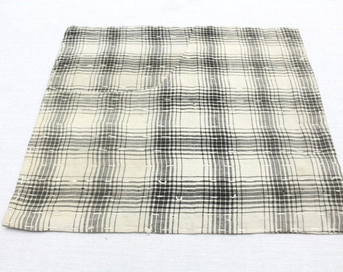 Japanese Zoukin Cloth. Antique Handmade Floor Cloth. Layered Cotton Sashiko Textile. Place Mat. (Ref: 1275)