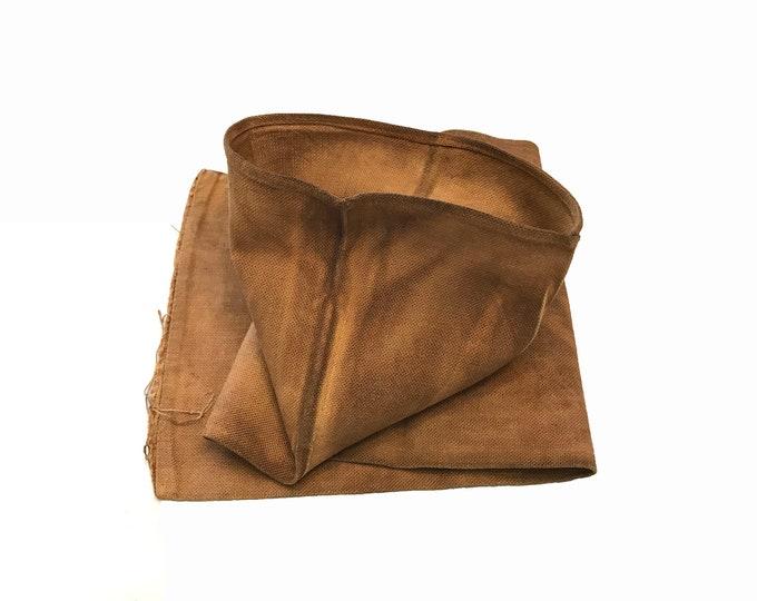 Sakabukuro. Japanese Antique Industrial Sack. Collectible Hand Made Sake Bag. (1878)