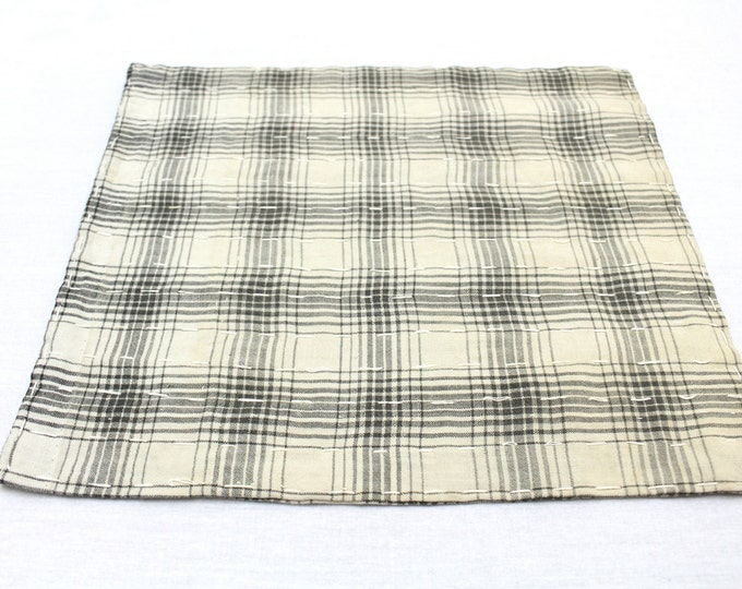 Japanese Zoukin Cloth. Antique Handmade Floor Cloth. Layered Cotton Sashiko Textile. Place Mat. (Ref: 1272)