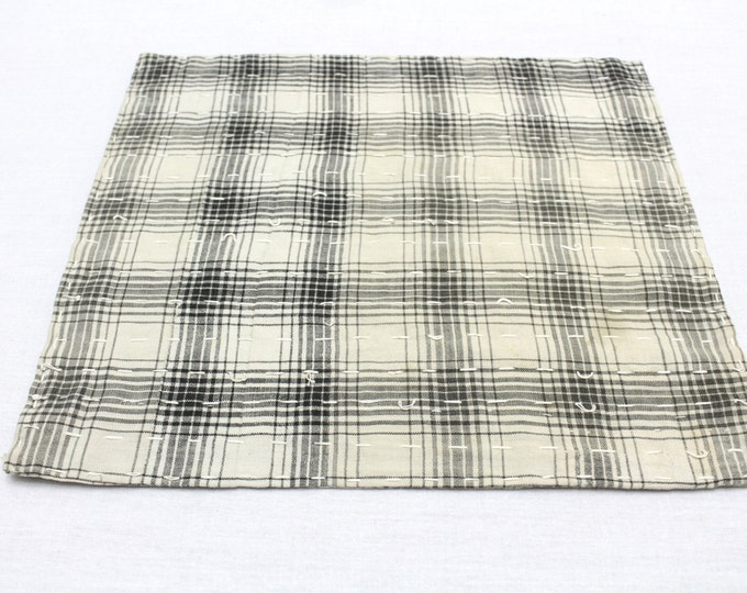 Japanese Zoukin Cloth. Antique Handmade Floor Cloth. Layered Cotton Sashiko Textile. Place Mat. (Ref: 1274)