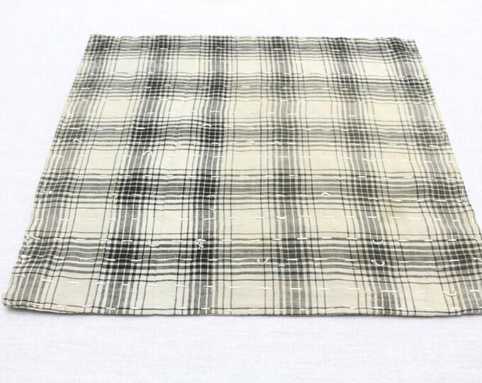 Japanese Zoukin Cloth. Antique Handmade Floor Cloth. Layered Cotton Sashiko Textile. Place Mat. (Ref: 1274)