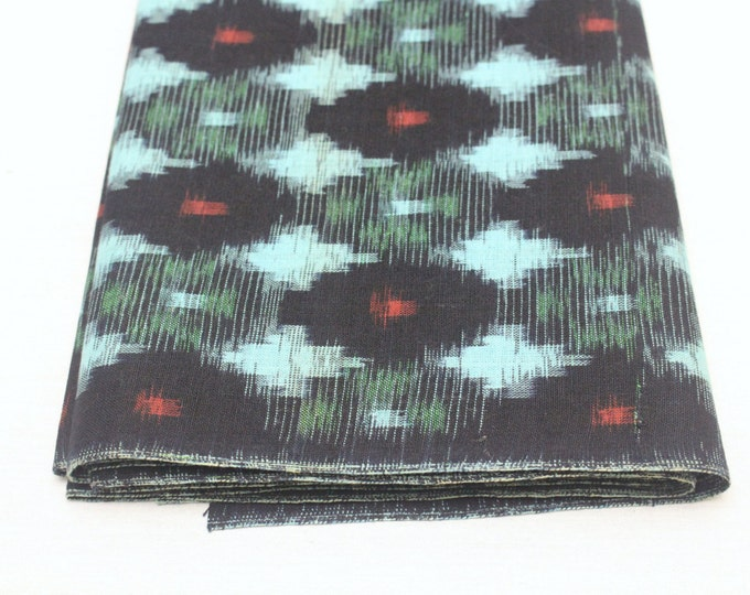 Japanese Vintage Kasuri Ikat. Woven Indigo Cotton Bolt. Traditional Folk Fabric. Bingo (Ref: 1687)