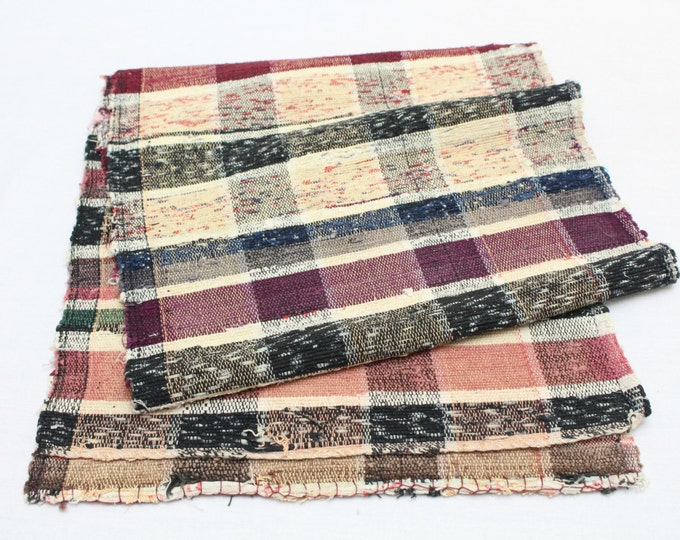 Sakiori Textile - Japanese Vintage Handwoven Textile - Obi - Table Runner - Wall Hanging (Ref: 1156)