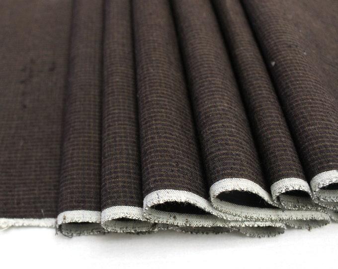 Japanese Vintage Kasuri Ikat. Woven Plaid Cotton. Traditional Folk Fabric. (Ref: 1911)