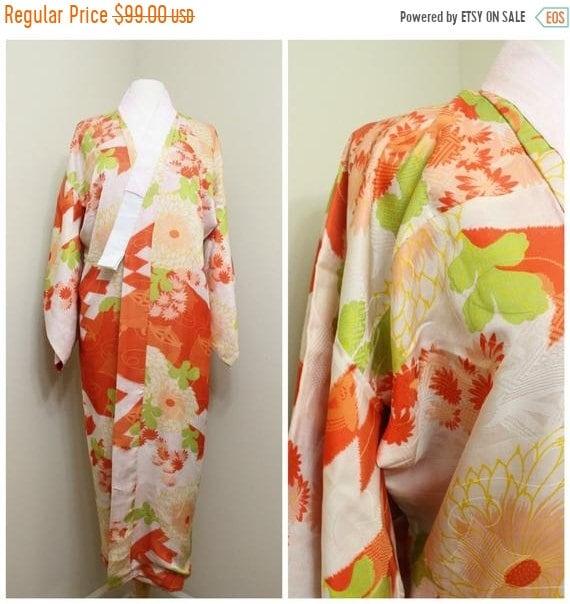 40% OFF Japanese Juban. Silk Kimono. Silk Robe. Ja