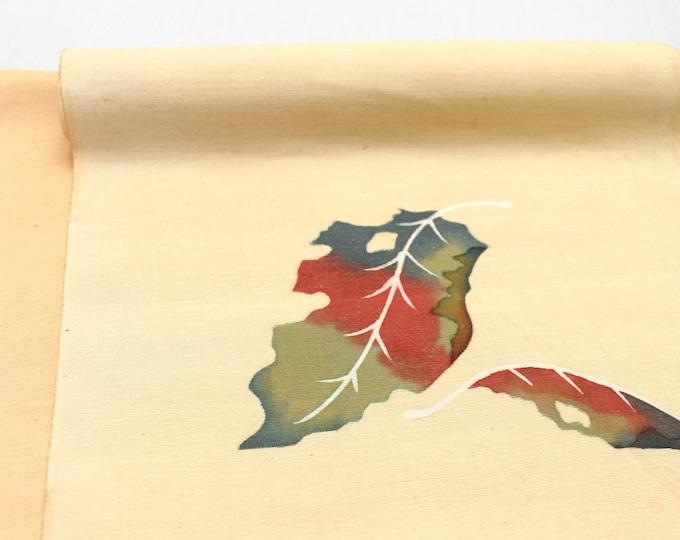 Vintage Japanese Tsumugi Cotton. Artisan Woven Fabric. Hand Dyed Botanical Dye (Ref: 1922)